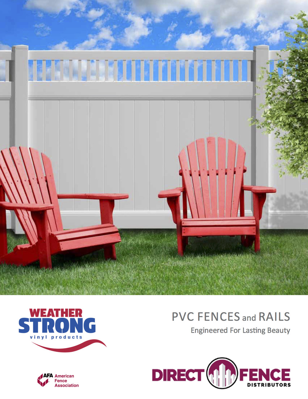 Direct Fence vinyl fence brochure