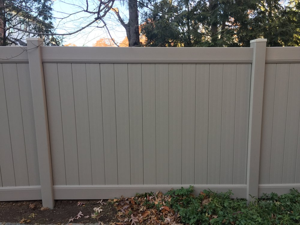 Clay Solid Privacy vinyl fence installation done by  Direct Fence