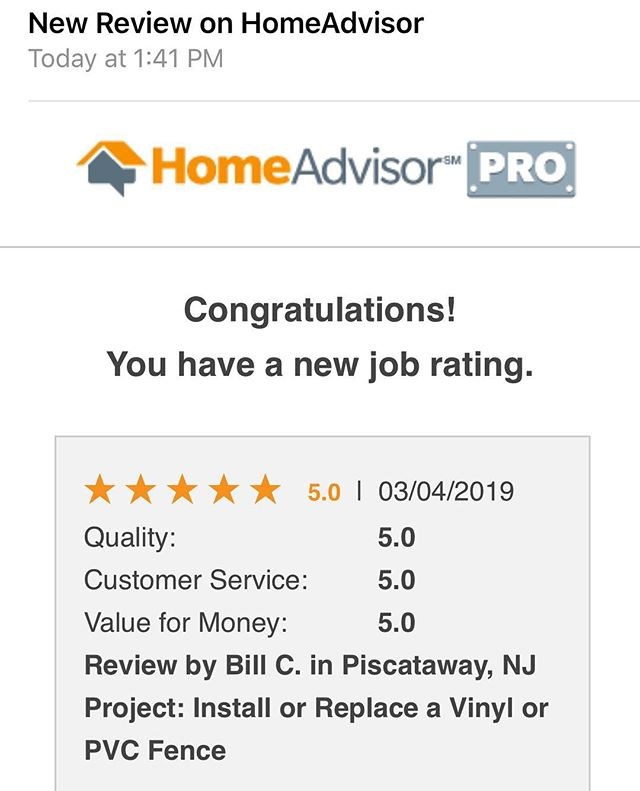 Another ⭐️⭐️⭐️⭐️⭐️👍😎🔥✅rating from a happy customer we installed solid privacy vinyl fence around his backyard In Piscatway NJ #vinylfence #fence #piscataway #piscatawaynj #nj #newjersey #construction #happy #fivestar #weloveourcustomers