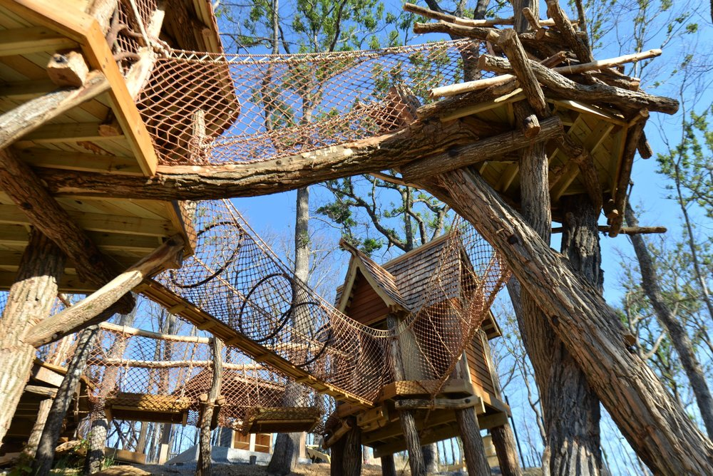 Children's Treehouse Village Playground
