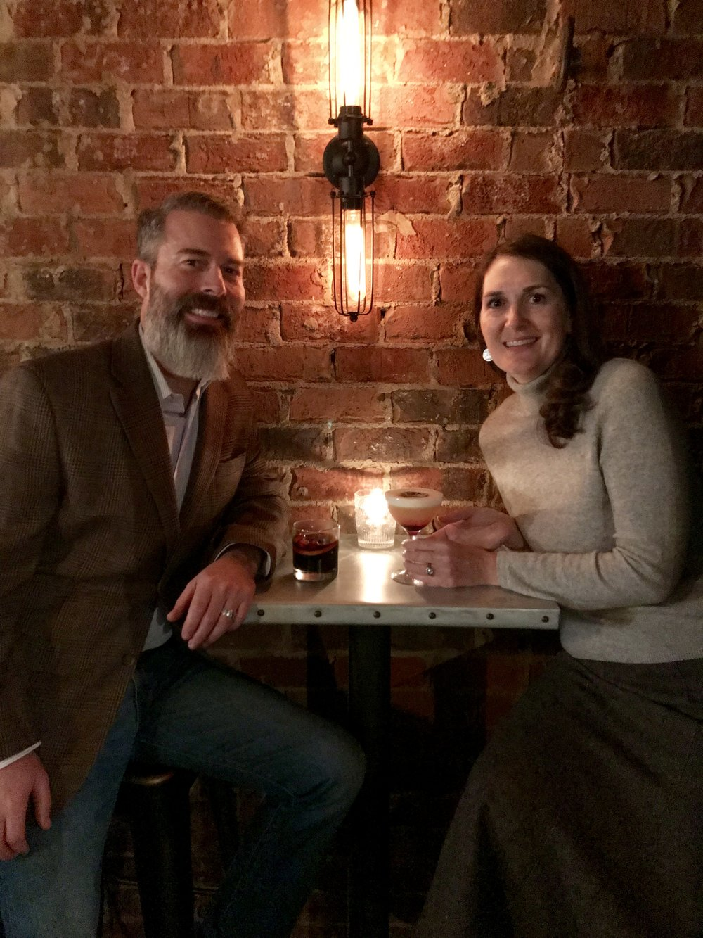 Scott & Sharon from GraciousRoots LOVING their local Speakeasy Vault &Vator!