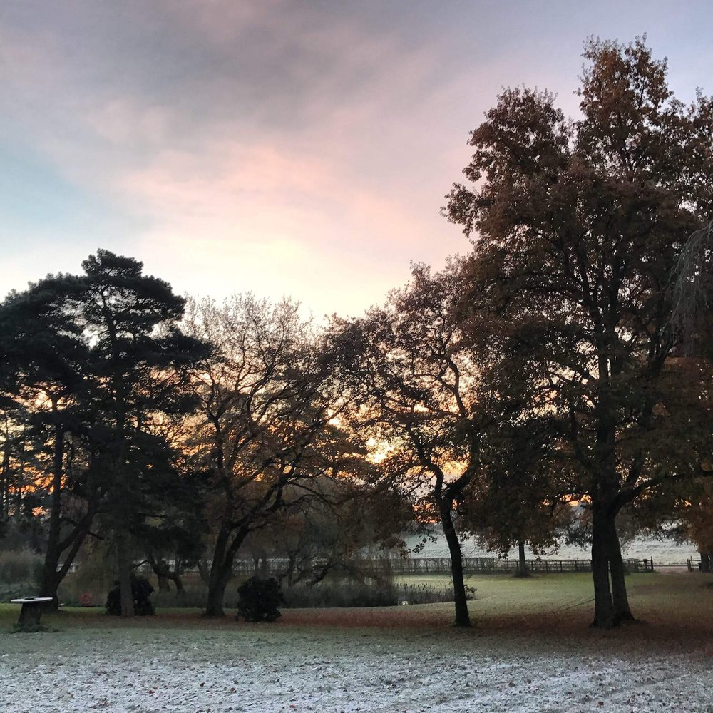 Winter Skies and Norfolk Glamping