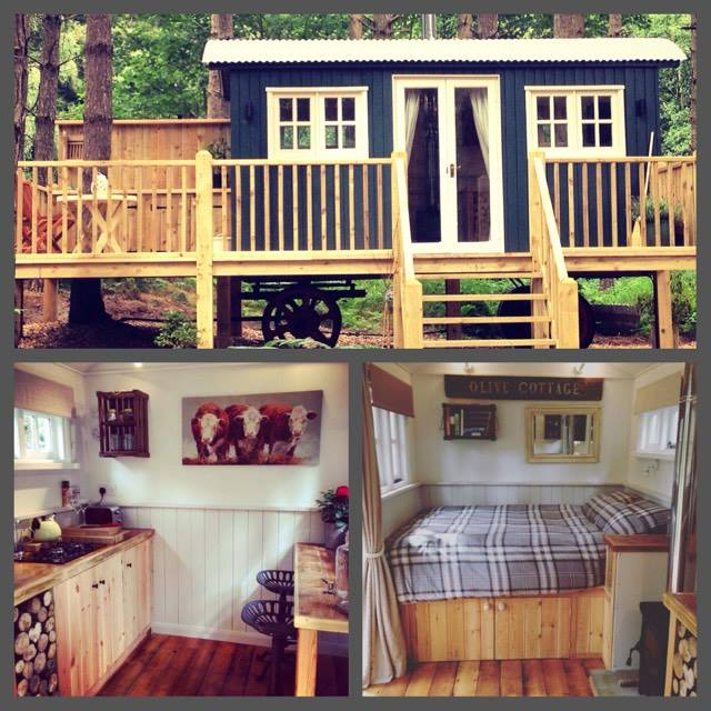 With a Super King Bed, Woodburner, Kitchenette, Breakfast Bar, Private Heated Toilet and Shower Room and woodland garden. Not hard to get a good night sleeps. Glamping in laid back luxury.
