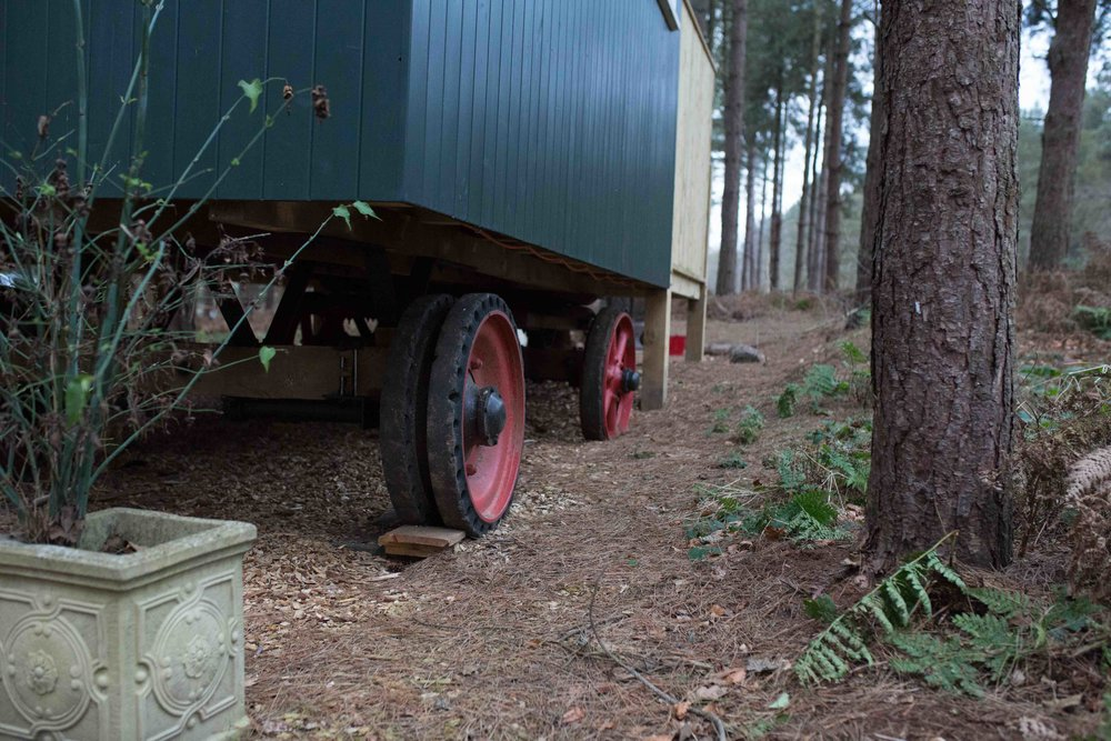 Shepherds Hut Woodland Glamping Norfolk