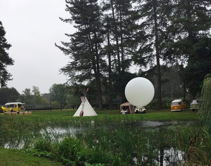 Norfolk Balloon Boutique  supplied their 3ft Balloons floating on the pond for our little Festival - Pic by Them