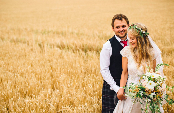 Barley Field Wedding Pics