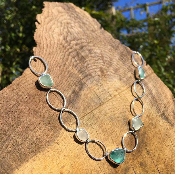 Meg Matthews Jewellery - Everything is handcrafted using sterling silver and seaglass.