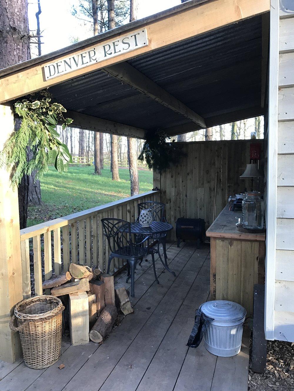 outdoor kitchen glamping norfolk