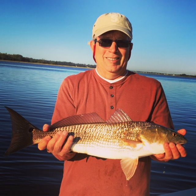 Man caught a Red Drum on Therapy Fishing Charter