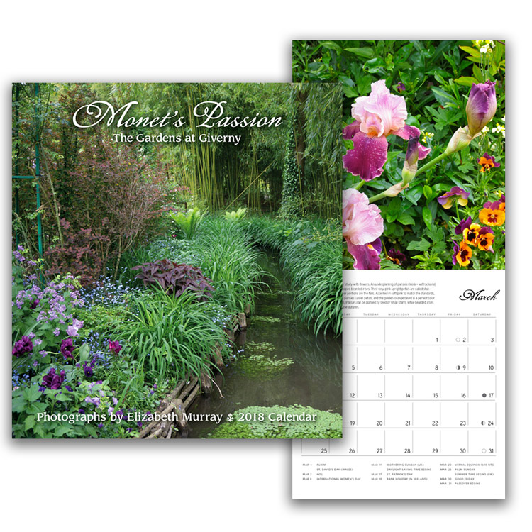 Monet's Passion: The Gardens at Giverny 2018 Mini Wall Calendar