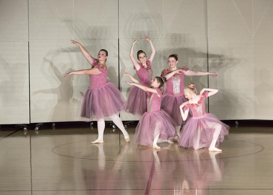 Girls posing for Ballet Recital