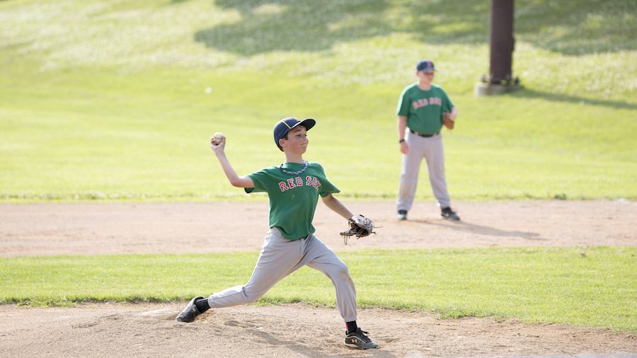 Sunny Day Peewee Baseball Game