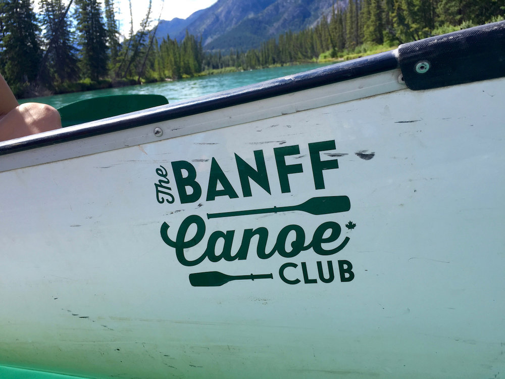Banff Canoe Club Boat on the water