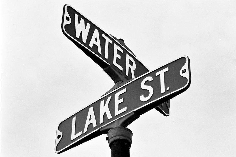 The corner of Water and Lake St in Excelor