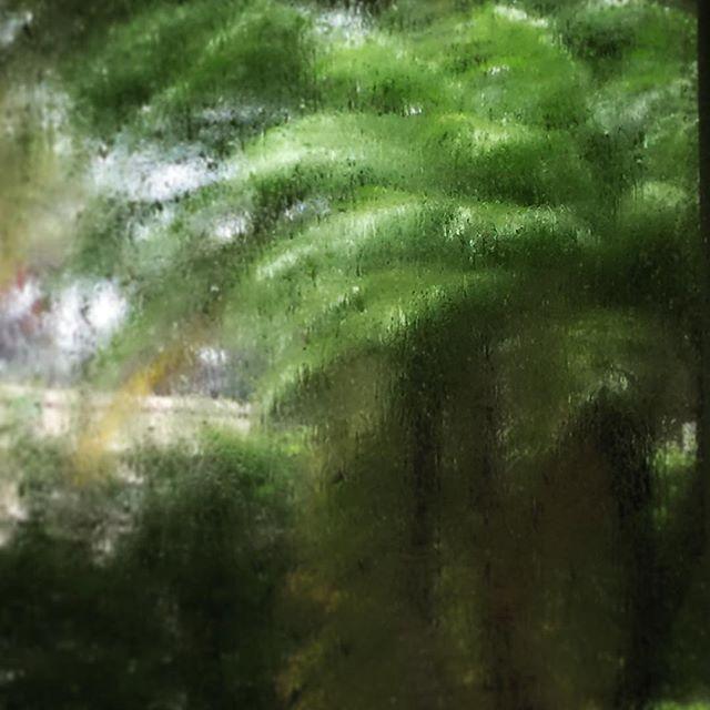 Irma outside. No power, no filter, rain on glass...