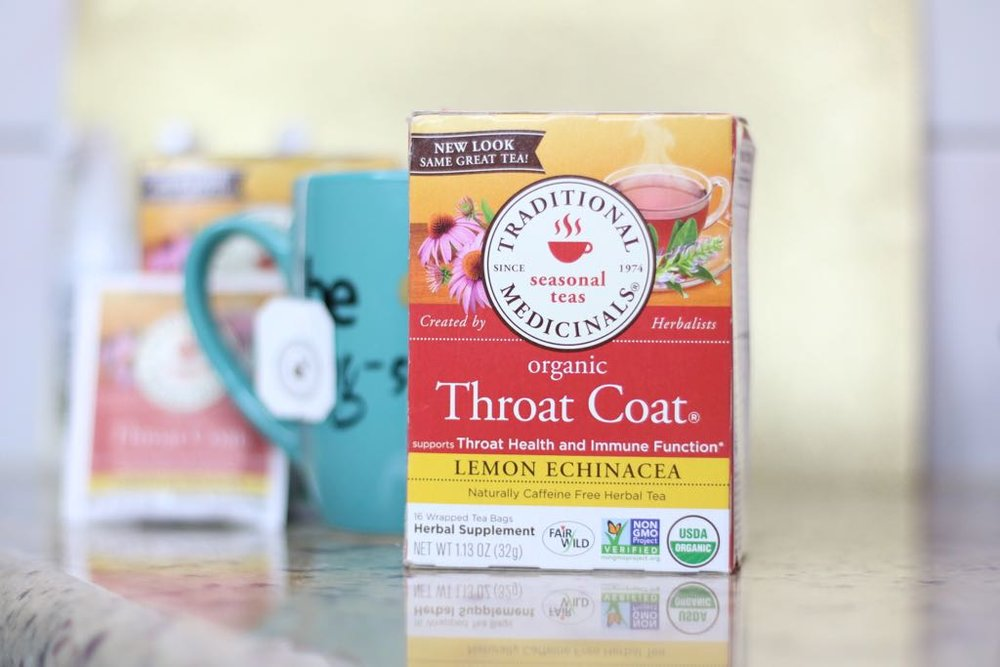 Throat Coat Organic Tea - Caffeine free herbal tea, made from the bark of slippery elm and licorice root. Soothes and comforts the vocal cords.Beneficial for sore throat, hoarse voice & cold & flu symptoms affecting the Vocal Cords.