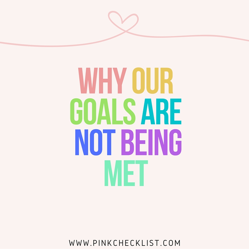 Why our goals are not being met(2)