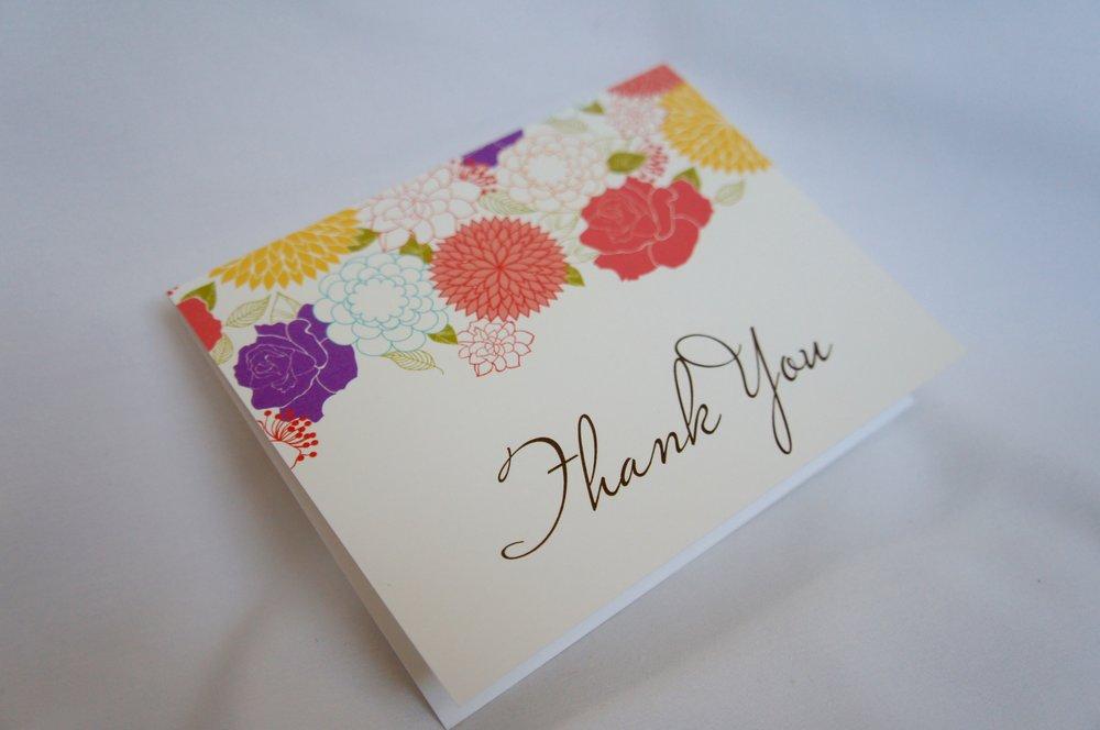 Thank you card basic invite
