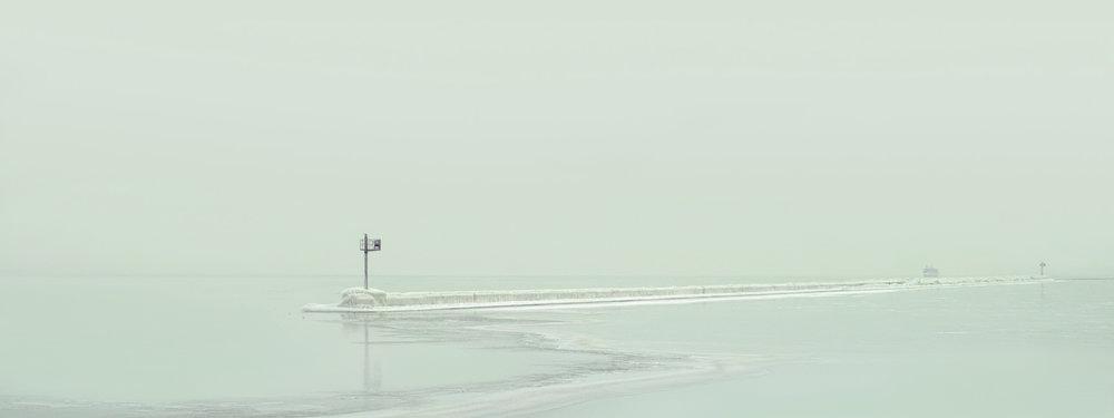Oak Street Pier Ice