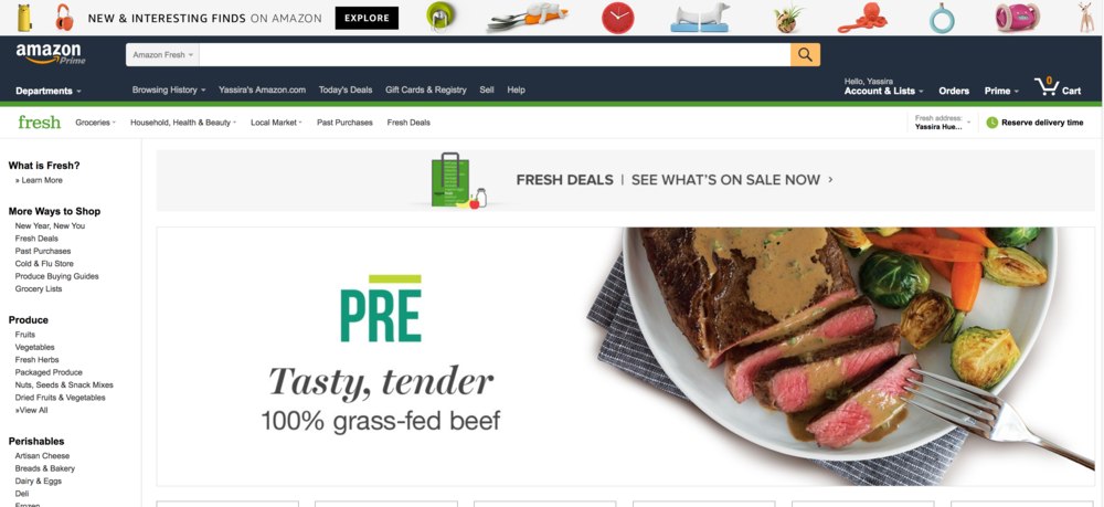 I hate wasting my time at the grocery store! That's why I love planning my meals, adding them to amazon fresh. They arrive as soon as the next day, without the fuss of waiting in line.