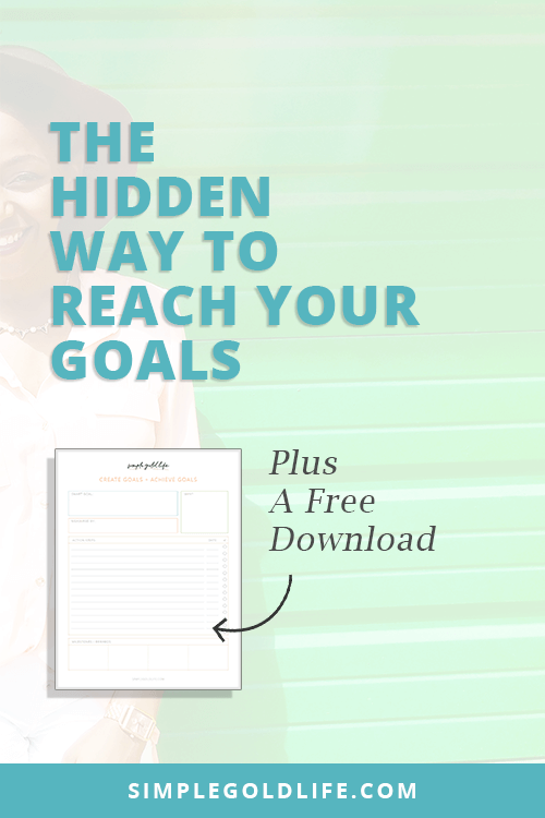 Is something holding you back from achieving your dreams? If this sounds familiar, you need to know this hidden secret to reach your goals and start creating action in your life! SimpleGoldLife.com