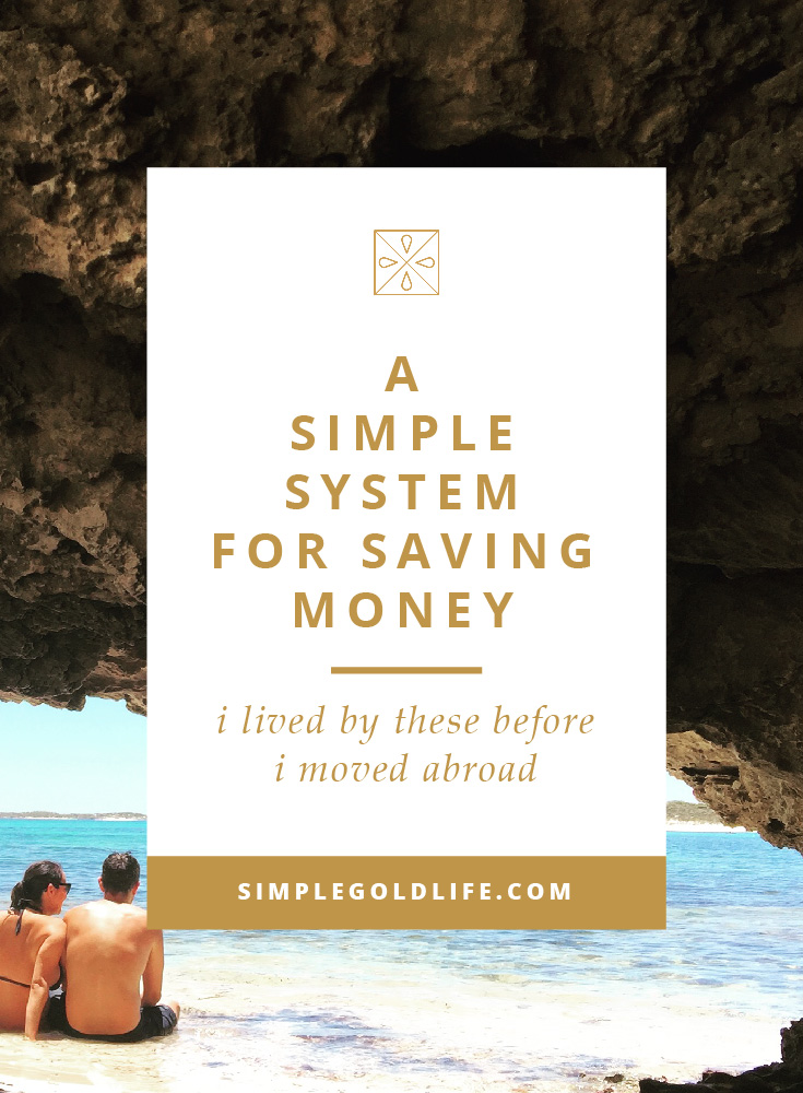 Don't let something like money or debt get in the way of your dreams to move abroad! Use My SImple System for Saving Money to Move Abroad, and start saving today! This system will help you face Plus get the budget worksheet that I used to save $30k. Get more tips at SimpleGoldLife.com