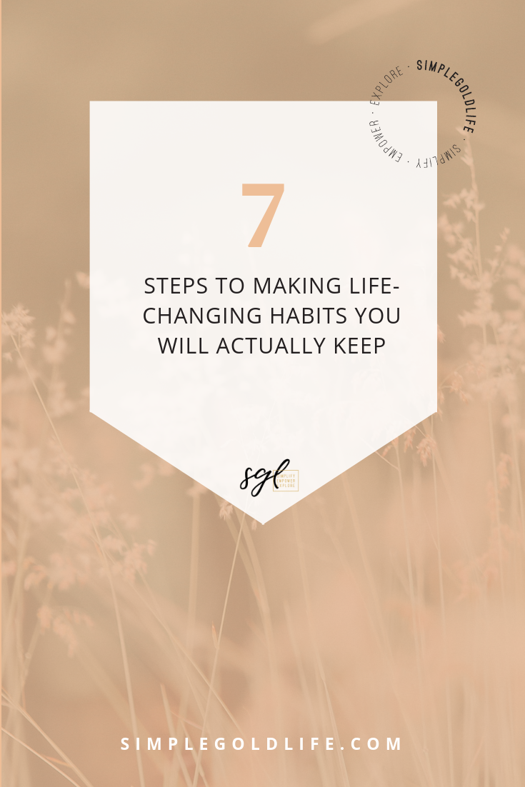 When we implement new and healthy habits in our lives, we become happier. Habits can also help simplify routines and increase productivity. What's the key to forming habits and keeping them? These simple steps! Plus don't forget your free Yearly Happiness Tracker and Monthly Habit Tracker. Read More at SimpleGoldLife.com