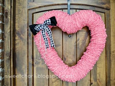 Valentine's Day Dryer Vent Heart Wreath