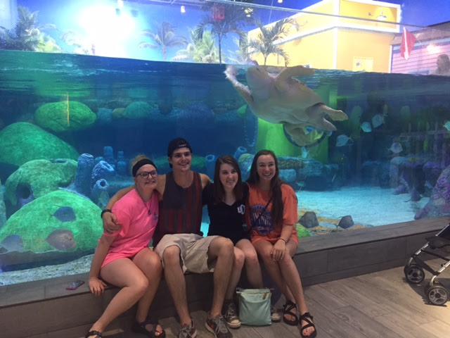 Senior Trip to Tulsa. Kayla Kubat, Noel Puryear, Maya Cook, Blair Bradley