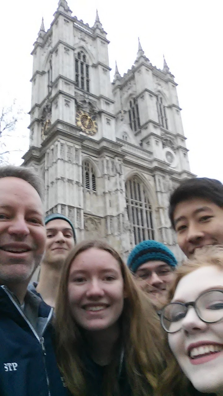 Our walking group from Edmond North Orchestra following worship at Westminster Abbey.