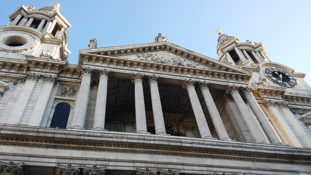 St Paul's Cathedral in London draws the eyes heavenward to perhaps remind us of angels ascending and descending.