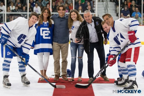 The Kiefer Family dropped the puck at the 2017 Gallagher-Kaiser Charity Hockey Game.