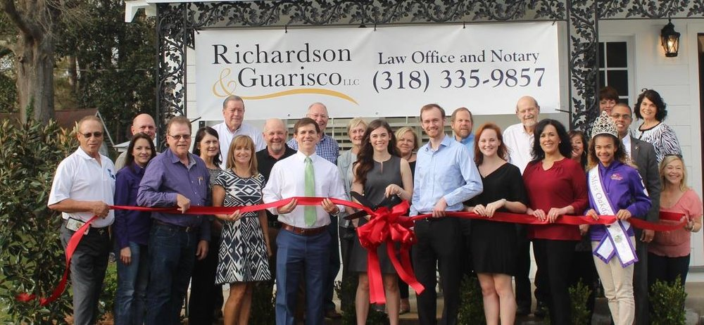 Richardson & Guarisco, LLC is registered with the Allen Parish Chamber of Commerce. We thank fellow Chamber members, Mayor Gene Paul, and his staff at City Hall for a successful Grand Opening!