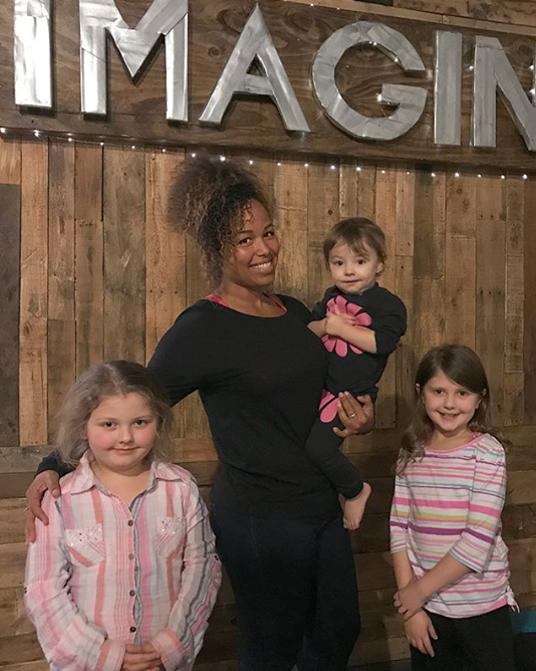 Madalynn, Seba holding baby Aspen, and Sierra!