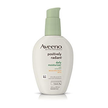 Moisturizer: Aveeno Positively Radiant ($12) - Often times, when you have dry skin, dullness is a side effect. I love and swear by this moisturizer simply because it's the perfect dry skin