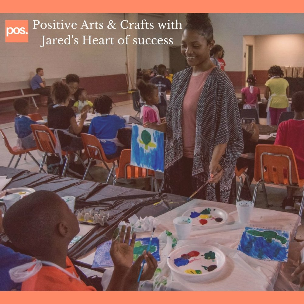 - On July 14th, The Positivity Brand hosted our first event. We work with our partners, Give Humanity and Sharmaine Brown, founder of Jared's Heart of Success non-profit organization. We raised $341 to host a paint party for some of the children she mentors and our instructor was the beautiful, Jasmyne Johnson. Check out the recap of this event.
