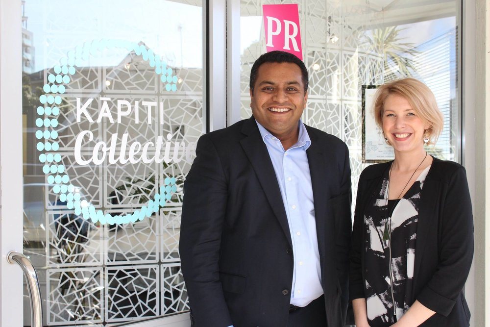 Mana MP, Kris Faafoi visits Kapiti Collective in 2016.