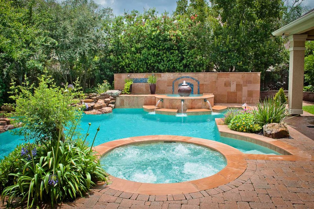 Custom pool builder in the woodlands mirror lake designs for Custom pool builder