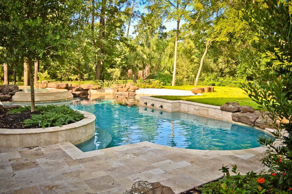 Custom Pool Builder In The Woodlands Mirror Lake Designs