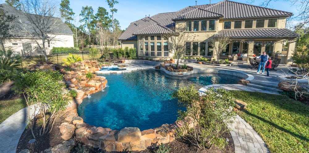 Fresh Custom Pool Builder in The Woodlands — Mirror Lake Designs OX01