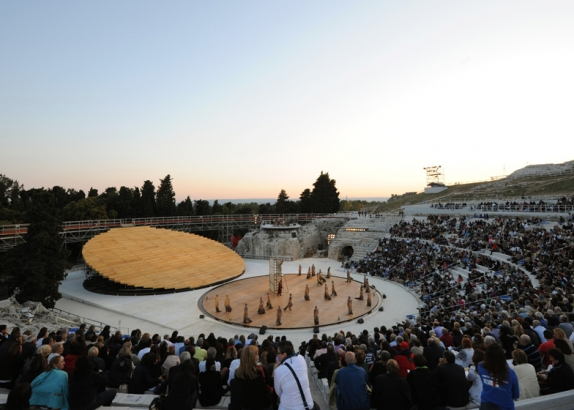 Stage Set for Ancient Greek Theatre