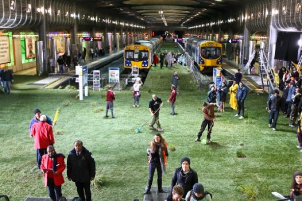 Meadow in Train Station!