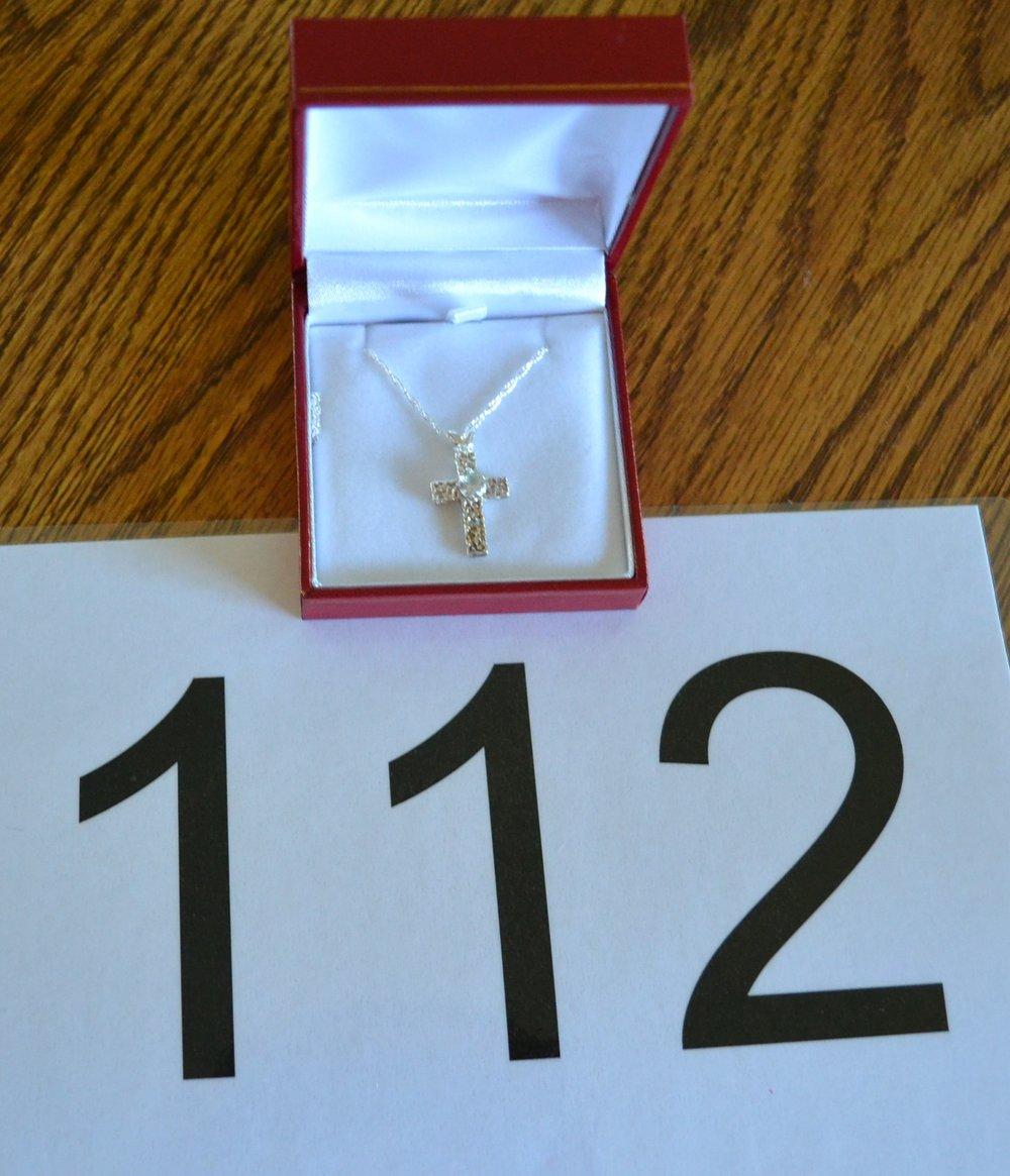 """#112  Size is 18"""" pendant, 5mm gem"""