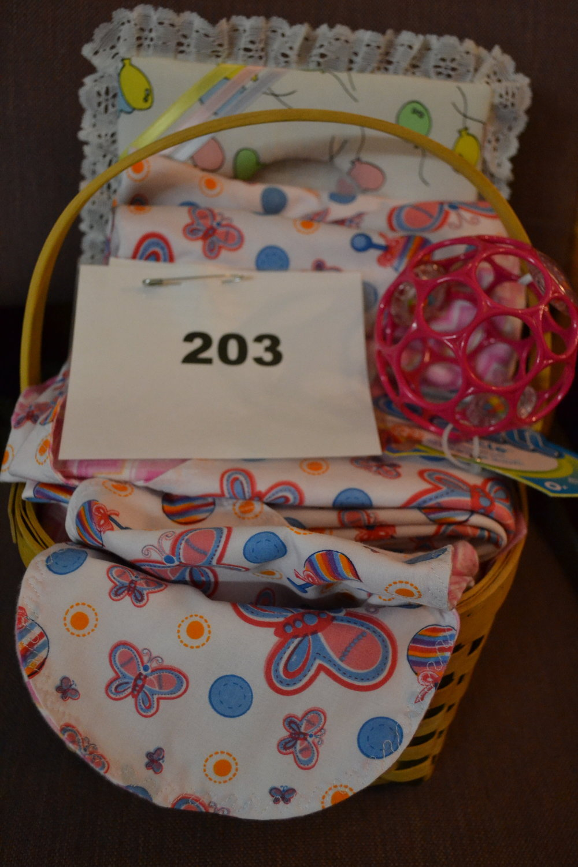 #203  Baby girl basket