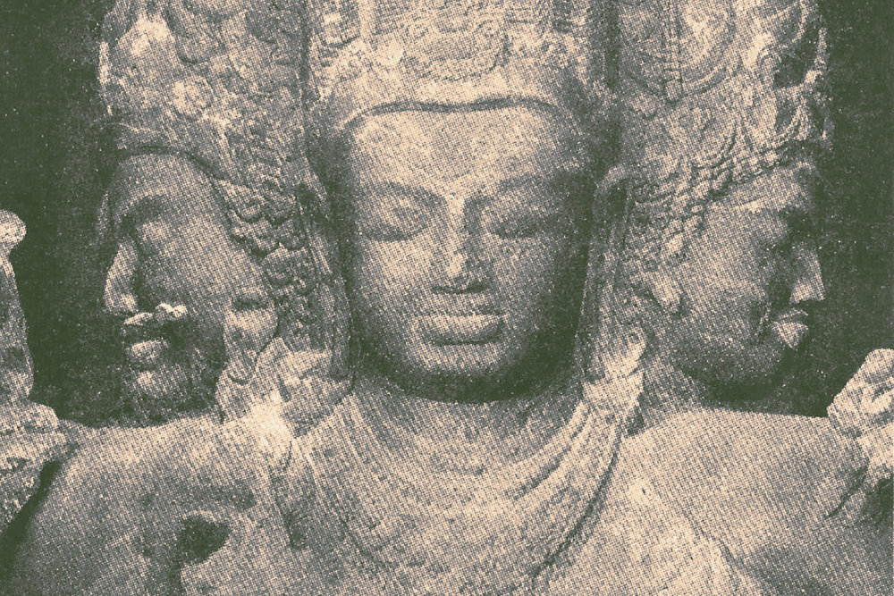 Detail of Trimurti Sculpture, Elephanta Caves