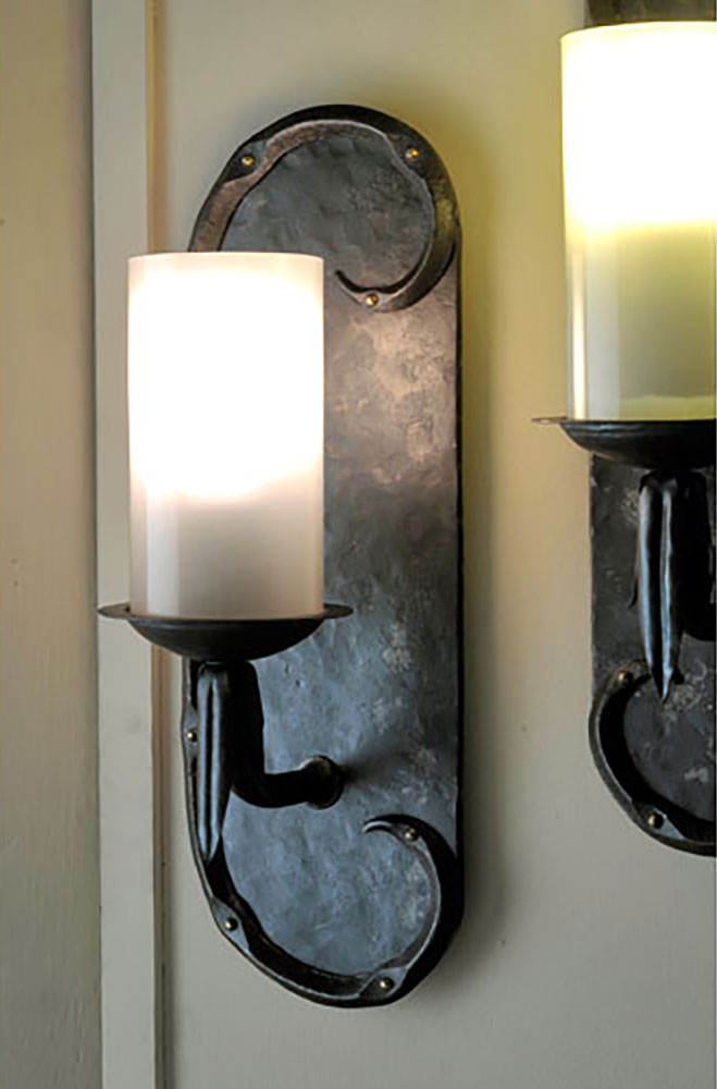 Electric Wall Sconces, a commission by Nancy Stearns, Wonalancet, N.H.