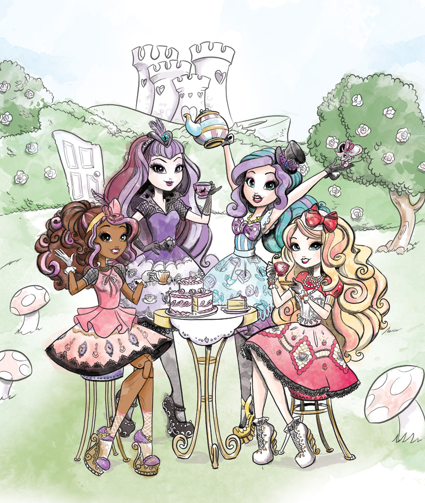 Cover illustration for Ever After High: The Hat-tastic Tea Party Planner