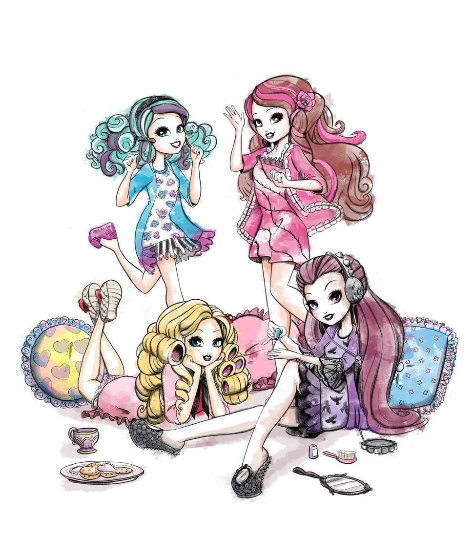 Cover illustration for Ever After High: The Sleepover Spellebration Party Planner