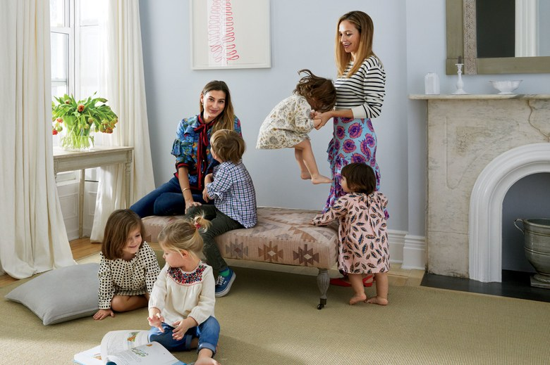 Co-founders of  Maisonette  with their children.  Image Credit:   Vogue