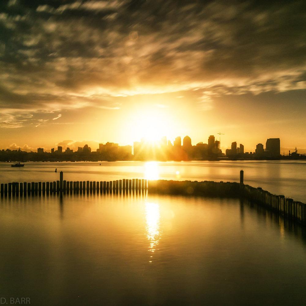 San Diego Skyline (sunrise)